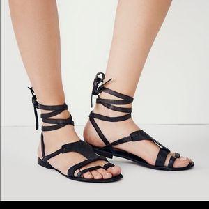 Black laceup free people sandals